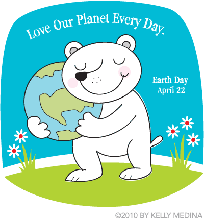 Earth Day Polar Bear by Kelly Medina